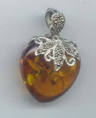 Sterling silver with stone pendant