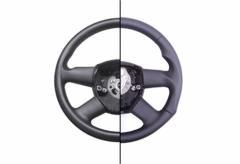 Steering wheel for the car restored