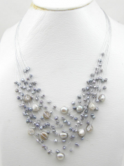 Multi Strands Gley Pearl Necklace