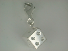 Crystal Dice charm