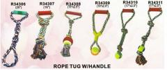 Double rope tug with handle