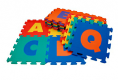 Foam letters and other floor coverings