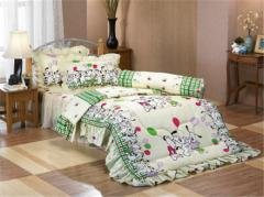3.5' Fitted Sheet with Skirt Double Bed Set