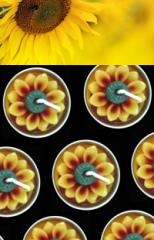 Sunflower tealight candle