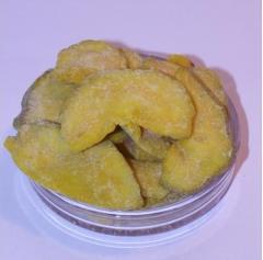 Dried bananas in sugar