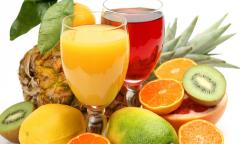Juices of tropical fruit