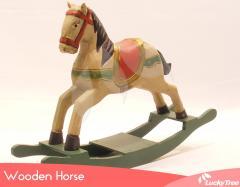 Patches Wooden Horse - L (Teak roots)