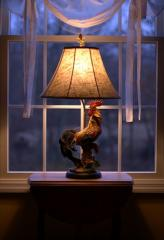 Coconut Rooster Lamp