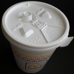 Cup water, cover (cap film)