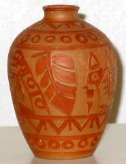 Handcrafted terracotta vase