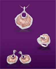 Graceful Mushroom gold jewelry