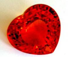 Heart shaped Spessartite stone