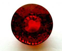 Round Spessartite stone