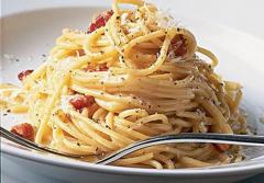 Spaghetti with Carbonara Sauce