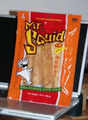 Rollered Seasoning Squid snack food