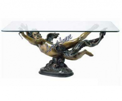 Bronze Cupid Table