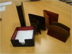 Promotional products made of leather