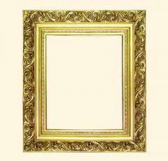 Wooden frame for a mirror