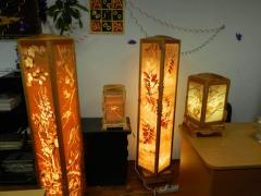 Lighting and decorative wooden