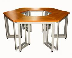 Student desk trapezoid
