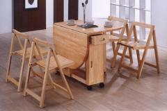 Dinning set — Drop-leaf table