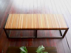 Jointed-teak bench
