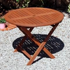 Round Garden Table wooden