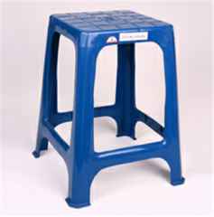 Square plactic stool