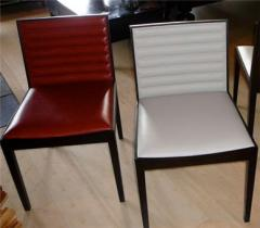 Teak Side Chair with Leather Seating