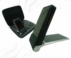 Flip up Mobile Stand with Card Reader and USB Hub
