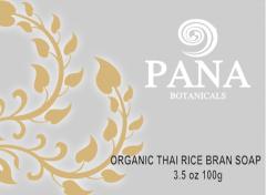 Organic thai rice bran soap