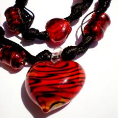 Necklace handmade glass