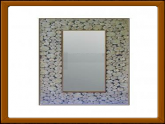 Rec.-Dot Wood Mirror Frame