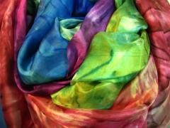 Large silk scarves