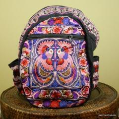Flower Backpack Book Bag Thailand Hmong Colors