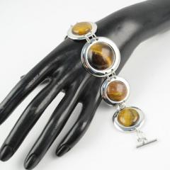 Jewelry set with Tiger's eye handmade