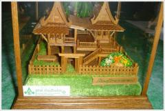 Traditional Thai House Model
