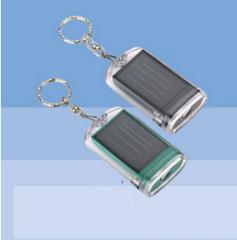 One LED solar flashlight with keychain