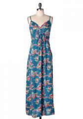 Blue Ocean Halter Maxi dress