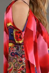 Smock red maxi dress
