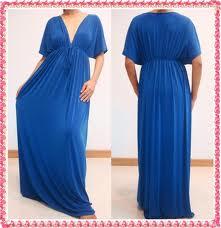 Blue Kimono Maxi dress