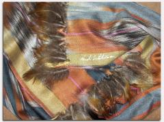 Hand woven silk scarve