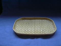 Braided bamboo tray