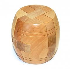 Puzzle barrel wooden