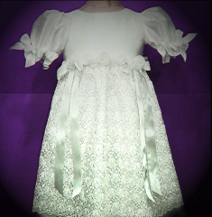 Baby silk dress with lace