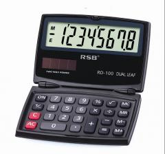 Dual Power Solar and Battery Handheld Calculator