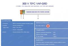 2 CORES - 300 V 70˚C PVC Insulated and Sheathed,