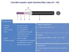 Foam/Skin Insulation Alpeth Sheathed Filled Cable