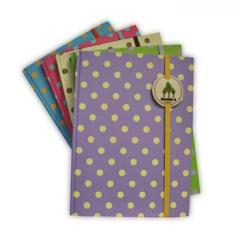 Hard cover, notebook A5, 80 s ,Polka Dot