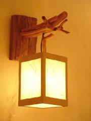 Wall lamp wooden